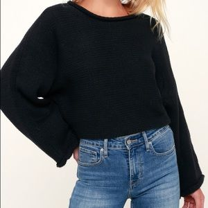 BB Dakota Oversized Black Knit Sweater